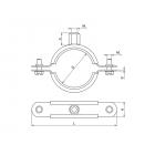 80120212000 - Хомут металлический с резиновой вставкой UPGD-125BK (125-133)