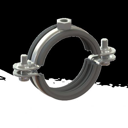 """80110203300 - Хомут металлический на дюйм с резиновой вставкой HUPG-1"""" BK (31-36)"""