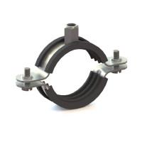 Металлический хомут для ОВК с резиновой вставкой UPGD-120BK