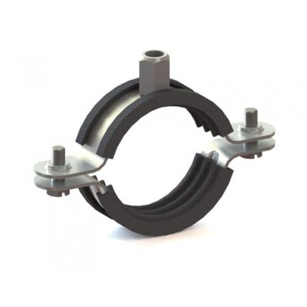80120212000 - Хомут металлический с резиновой вставкой UPGD-145BK (142-150)