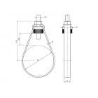 """80511120330 Металлический хомут для систем пожаротушения ZPF-M10-1"""""""