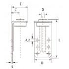 Амортизирующие L и Z-подвески для монтажа  воздуховодов