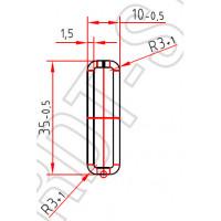 Труба-квадрат 35 x 15 x 1,5 mm