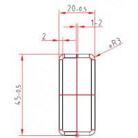 Труба-квадрат 45 x 20 x 2,0 mm