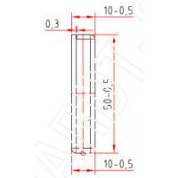 Труба-квадрат 50 x 10 x 2,0 mm