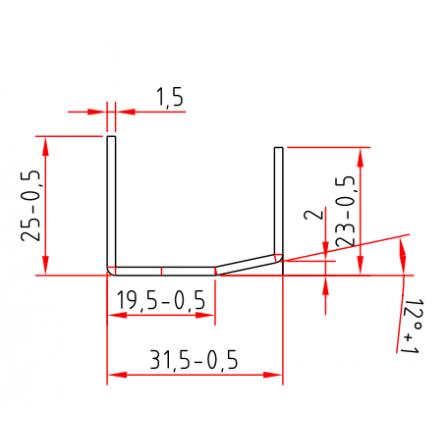 KBE 207 x 1,5 mm