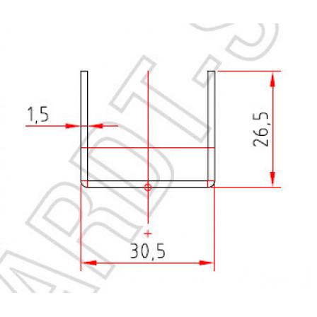 SCHÜCO  Art.-Nr. 202 467 x 1,5 mm