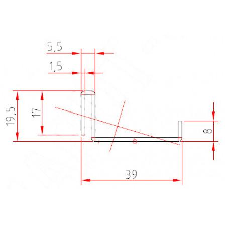 SCHÜCO  Art.-Nr. 202 609 x 1,5 mm