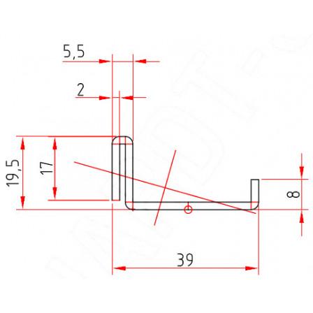 SCHÜCO  Art.-Nr. 202 611 x 2,0 mm;