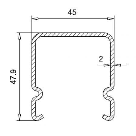 VEKA 113.368.2x2,0mm