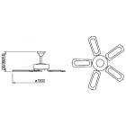 Вентилятор потолочный Helios DVAW 130